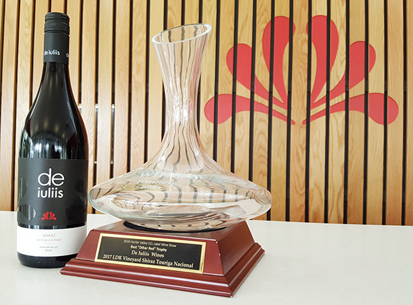 Trophy Winner at the 2018 Clear Image Hunter Valley Wine Show