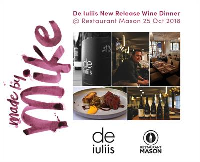 De Iuliis Wine Dinner 2018 – Restaurant Mason